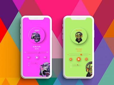 Music player music application app design user experience user interface usability ux design ui design ux ui