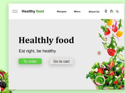 Healthy Food Website uiux ux ui food design web design web website site