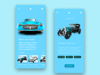 Rental Car digital art rental application graphic design graphic app design uiux design ux ui