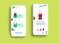 Fresh Juice delivery graphic uiux digital art illustration app design graphics ux ui graphic design design