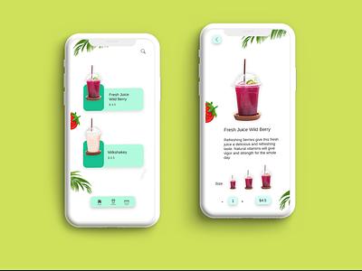 Fresh Juice delivery graphic uiux digital art illustration app design graphics ux ui graphic design design