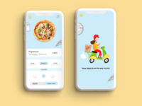 Couple more screens of the pizza delivery app app development application mobile app user experience user interface uxui ui ux app design