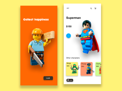 Application for the online toys store app development user interface user experience uiux ux design ui design app design application