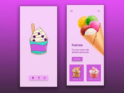 Fruit mix ux design ui design uiux ux ui android ios application app design