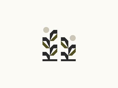 Plants growth flowers garden eco natural nature geometric logotype illustration icon geometry logo branding minimalism plants