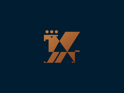 Griffin geometry logo branding minimalism power money luxury banking fintech finance creature mythical myth animal lion eagle griffin