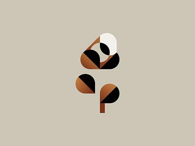 Bloom bloom flower plant minimal mark illustration identity logotype icon geometry logo branding minimalism