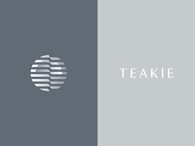 Teakie technology tech startup geometric minimal mark identity logotype icon geometry logo branding minimalism