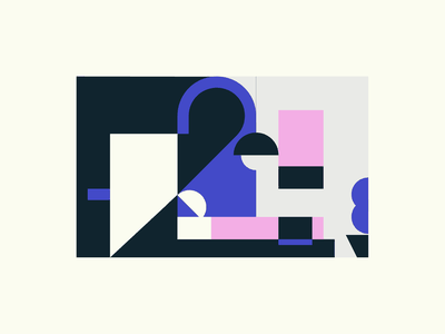 Hotel Room icon design icon illustration geometry minimalism