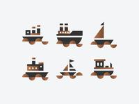 Boats Vector Set