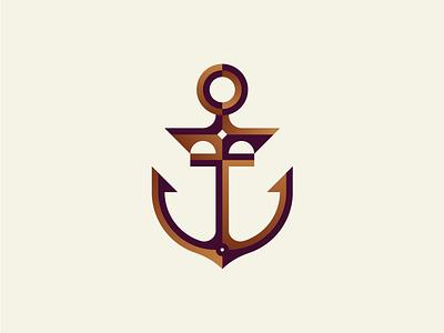 Anchor identity geometry geometric minimal minimalism mark illustration brand identity branding icon logotype logo anchor