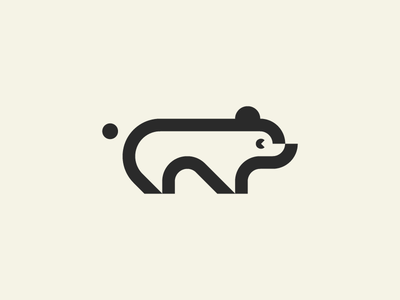 Polar Bear northpole article animal minimal mark logotype logo geometry icon minimalism branding polarbear