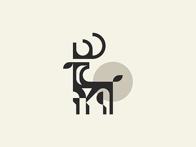 Stag icon illustration branding geometric minimal mark identity logotype logo minimalism animal deer stag