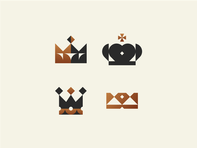 Crowns royalty royal princess queen king crown crowns minimal mark illustration identity logotype icon logo geometry branding minimalism