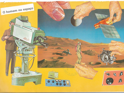 We were never in space movie space 70s vintage collage art collages collage