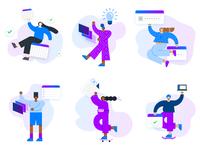 underrepresented in tech - character set