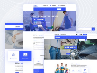 Cleanart - Housekeeping, Washing & Cleaning Company PSD Template service renovation plumbing plumber maintenance maid janitor house cleaning handyman electrician corporate company cleaning business appointments