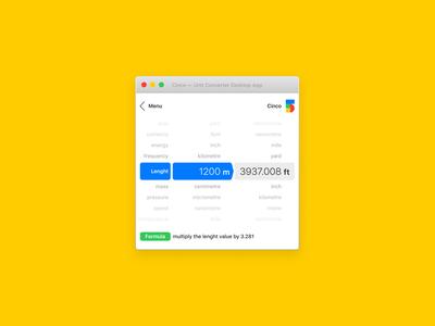 Cinco — Unit Converter Desktop App