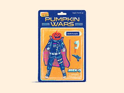 Pumpkin (Bootleg Action Figure) pumpkin vintage textures retro procreate monster logo junkykid illustration halloween graphic drawlloween design cute character design cartoon art 90s 80s 70s