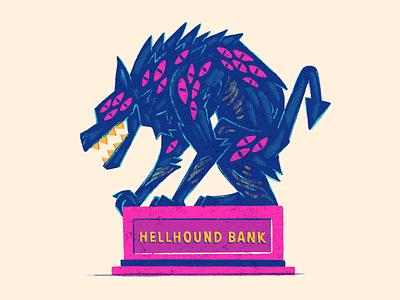 Hellhound (Coin Bank) bank hellhound characters vintage drawlloween 80s 70s retro design character illustration junkykid