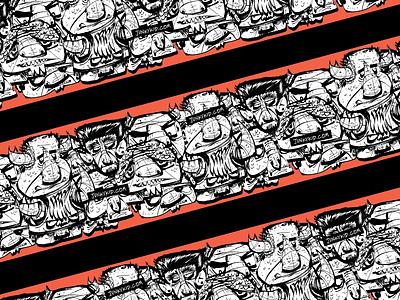 Packing Tape - Junkykid + Sticker Mule drawings heads tape free mule sticker illustration junkykid