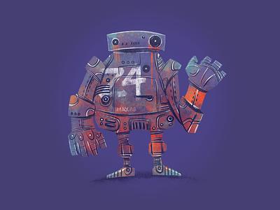 Robot Z4 pro ipad characters illustration design robot junkykid