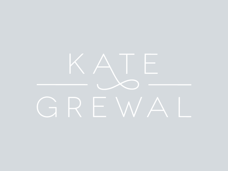 Kate Grewal | Concept branding identity modern swish rejected sans serif logo design