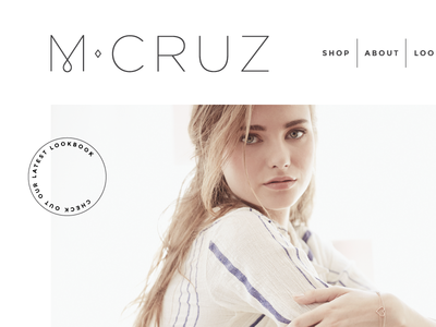 Melissa Cruz | Website Concept website design jewelry simple modern contrast white space geometric