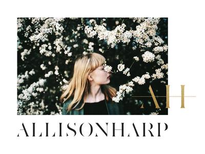 Allison Harp | Concept serif classic gold foil glitter photography florals warm identity branding