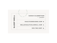 Vault Co | Business Card Concept