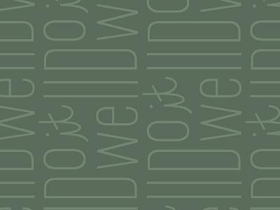 Do It Well | Pattern monoline pattern typography letters identity branding