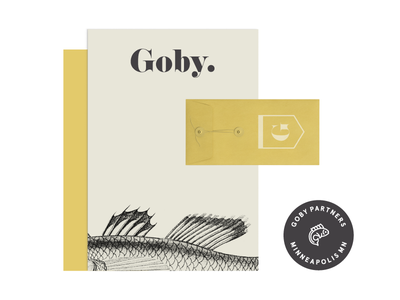 Goby | Branding Assets texture fish typography mockup notecard identity branding