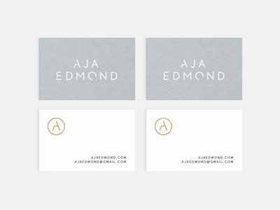 Aja Edmond | Business Cards Concept typography simplicity business cards identity branding