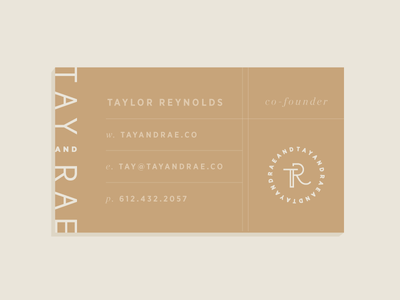 Tay & Rae | Business Card Concept business card modern typography identity branding
