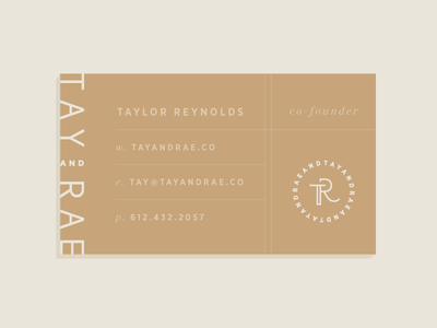 Tay & Rae   Business Card Concept business card modern typography identity branding