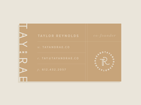 Tay & Rae | Business Card Concept