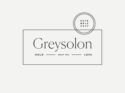 Greysolon | Lockup #1 modern typography lockup identity branding