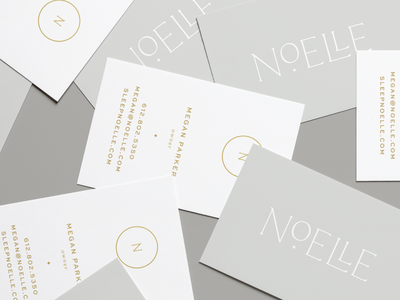 Noelle | Business Cards typography mockup gold foil business cards identity branding