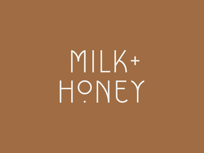 Milk + Honey | Primary Logo letter manipulation typography mid century mid century modern identity branding