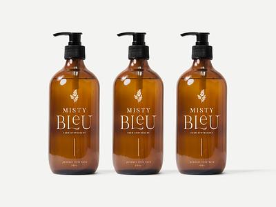Misty Blue | Packaging Concept mockup illustration leaves botanicals skin care packaging package design identity branding