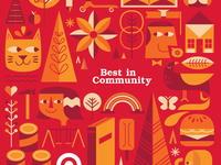 Target Red - Best in Community Insert