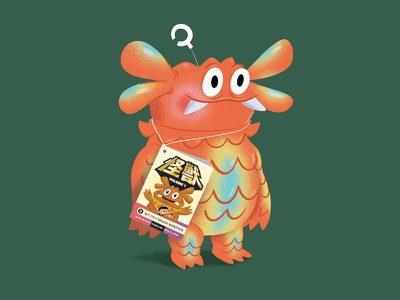 Snack Monster (Oyatsumon) monster kaiju toy sofubi japanese illustration character texture
