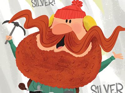 Yukon Cornelius character illustration yukon cornelius texture