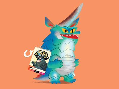 Gigasaur texture character illustration japanese sofubi toy kaiju monster