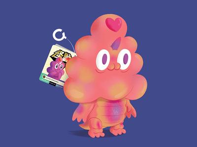 Cloud Sorcerer texture character illustration japanese sofubi toy kaiju monster