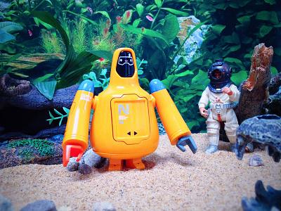 Freeman Robotics - Nautical Explorer Variant freeman robotics toy robot character diorama