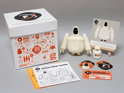 Freeman Robotics Package Contents character robot toy freeman robotics resin