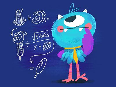 Perfect Math character wolfie joey ellis texture monster