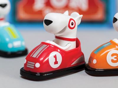 Target Bumper Car GiftCard target giftcard bullseye illustration character toy
