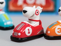 Target Bumper Car GiftCard target giftcard bullseye illustration character toy